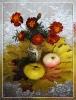 Натюрморт с фруктами и бархатцами